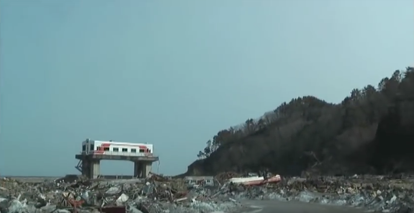 東日本大震災 岩手県田野畑村の津波被害 羅賀周辺のコピー