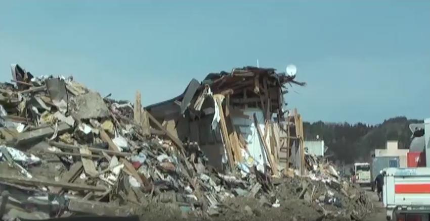 東日本大震災 岩手県田野畑村の津波被害 島越周辺 のコピー