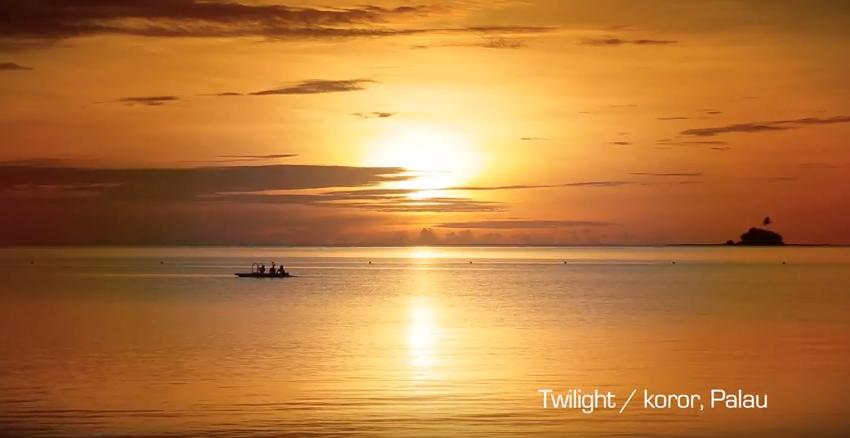 パラオパシフィックリゾートの夕暮れ Palau Pacific Resort  のコピー